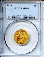 1914 $5 MS64 PCGS