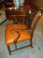 A set of eight George III style mahogany dining chairs