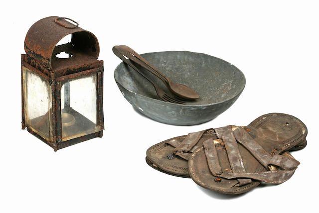 GANDHI, MOHANDAS K. 1869-1948. This lot features a large collection of memorabilia relating to Mahatma Gandhi,  all hailing from the estate of Indian shipping magnate Sumati Morarjee, and including the following: