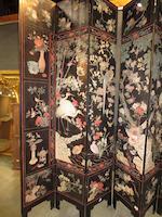 A fine Chinese twelve panel coromandel screen<BR />18th century