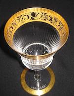 A suite of St. Louis cut glass and gilt stemware in the Thistle pattern