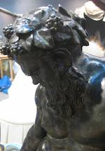 An Italian patinated bronze group of Bacchus with attendant panther<BR />after the antique<BR />19th century