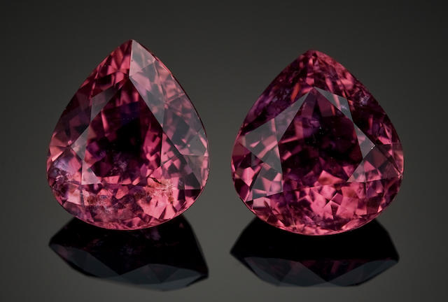 Two Hot Pink Tourmalines