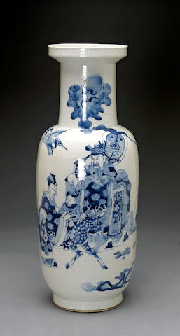 A large blue and white porcelain baluster vase Jiajing mark, Republic period