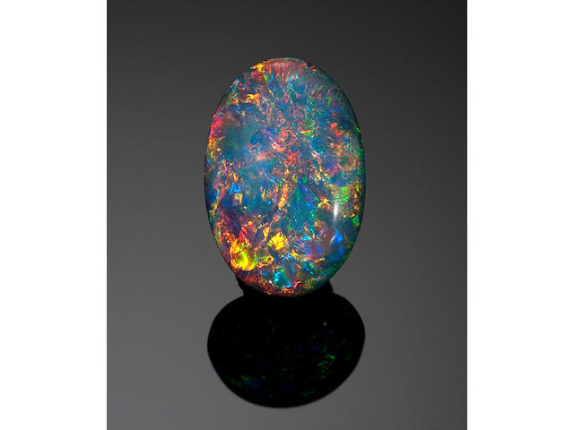 Stunning Double-sided Black Crystal Opal