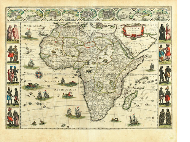BLAEU, WILLEM. 1571-1638. Africae nova descriptio. [Amsterdam, 1650 or later].<BR />