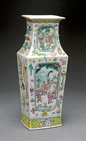 A famille rose enameled porcelain vase Late 19th century