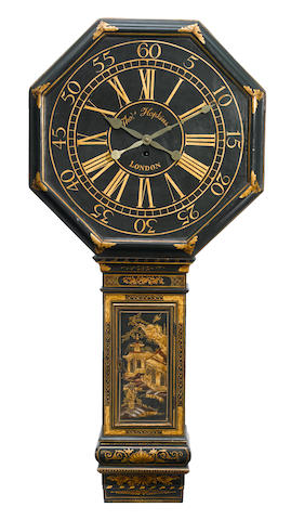 A George III lacquered tavern clock
