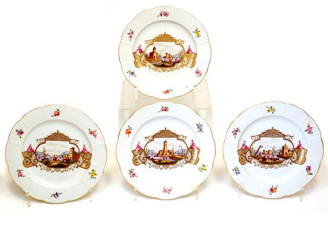 Twelve Ludwigsburg porcelain plates Circa 1770
