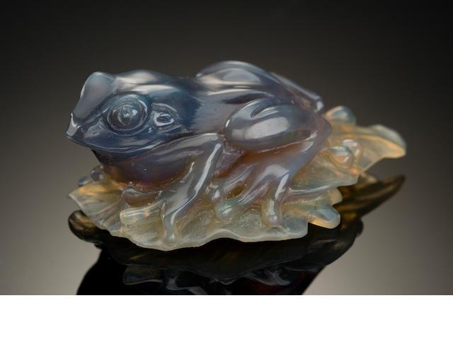 Frog Carving, Mintabie Opal