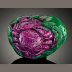 Ruby Zoisite Crab, Chinese