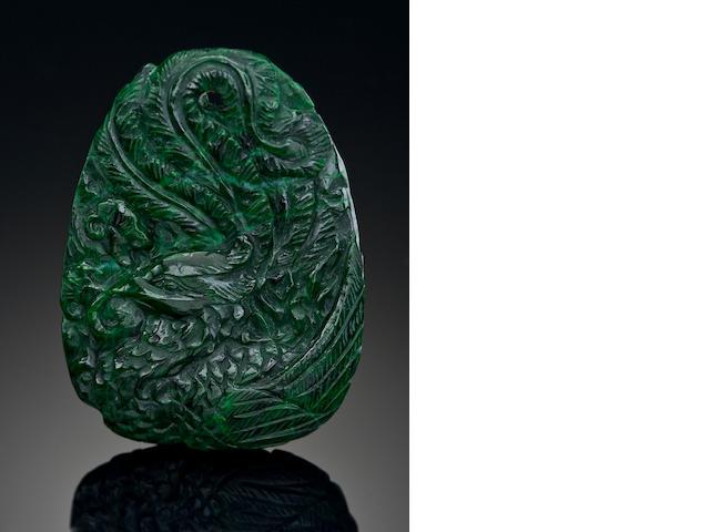 Jade Pendant w/dragon, Burma