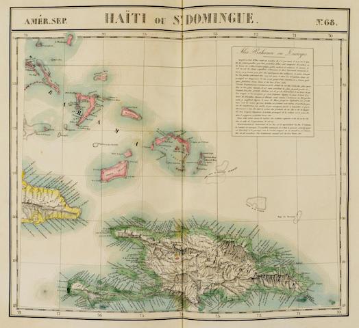 VANDERMAELEN, PHILLIPE. 1795-1869. Atlas Universel de Geographie Physique, Politique, Statistique et Mineralogique. Bruxelles: [P. Vandermaelen], 1827.<BR />