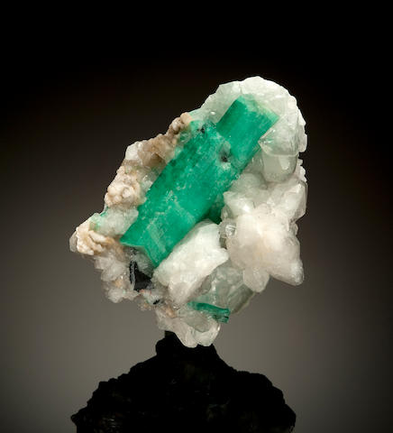 Huge Emerald Crystal on Calcite Matrix