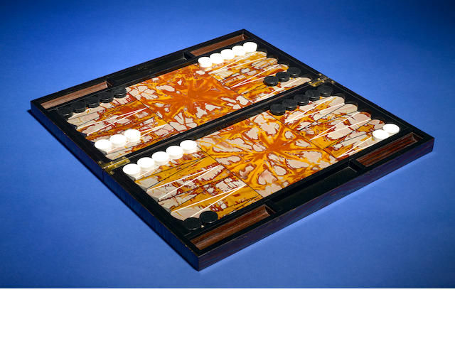 Tiger Iron Matrix Backgammon set