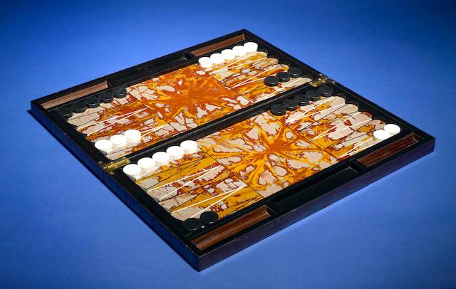 Tiger Iron Matrix Backgammon set
