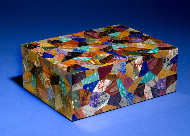 "Large Mosaic Intarsia box ""Patchwork"""