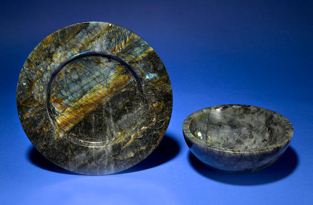 Laboradite Plate and Bowl