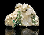Demantoid garnet specimen