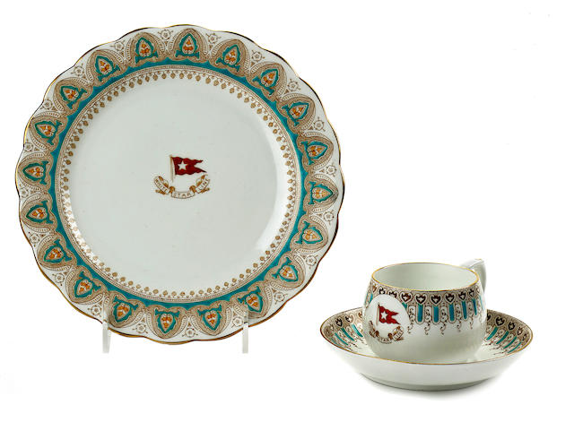 WHITE STAR LINE—FIRST CLASS CHINA, 1904-1906.