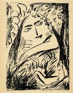 GONCHAROVA, NATALIA AND MIKHAIL LARIONOV. 16 Risunkov. 16 Dessins.  N.p., 1913.<BR />