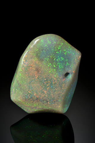"""Stunning Light Crystal Opal--The Largest Polished Opal to be Offered at Public Auction--""""The Tempest Opal"""""""