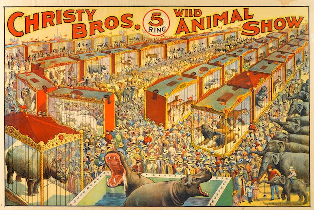 Artist Unknown (20th century) <BR />Christy Bros. 5 Ring Wild Animal Show