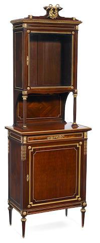A French gilt bronze mounted mahogany vitrine