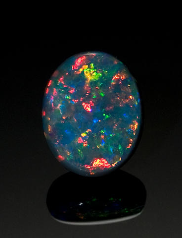Fiery Black Opal