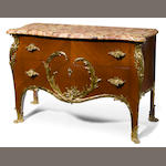 A Louis XV style gilt bronze mounted commode <BR />François Linke