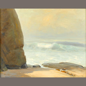 Alfred R. Mitchell (American, 1888-1972) Out of the Mist, La Jolla 16 x 20in