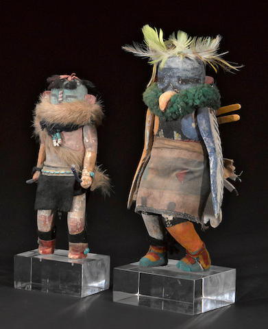 Two Zuni kachina dolls