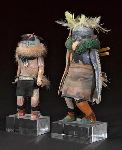 Two Zuni kachina dolls