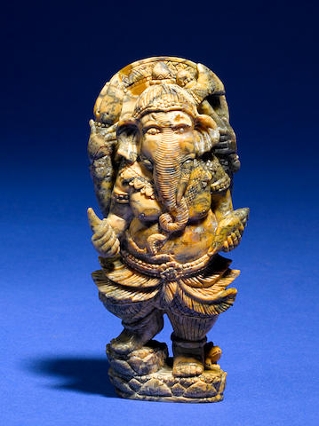 Australian Opalite Carving of a Ganesh