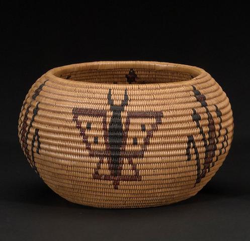 A Washo polychrome basket