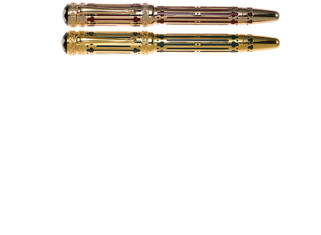 MONTBLANC: Peter I the Great and Catherine II the Great Patron of Art Series Limited Edition 4810 Fountain Pen Set