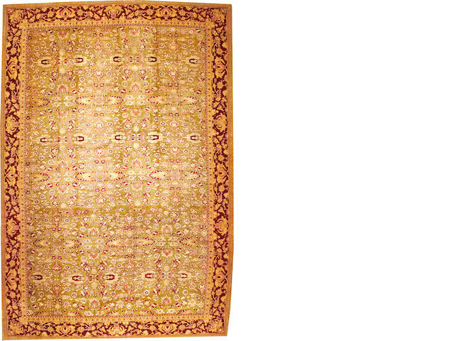 An Agra carpet  India size approximately 12ft. x 17ft. 10in.