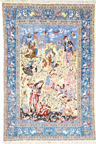 An Isphahan rug South Central Persia size approximately 5ft. 5in. x 8ft. 3in.