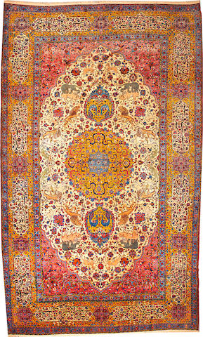 A Kashan carpet  Central Persia size approximately 11ft. 11in. x 19ft. 11in.