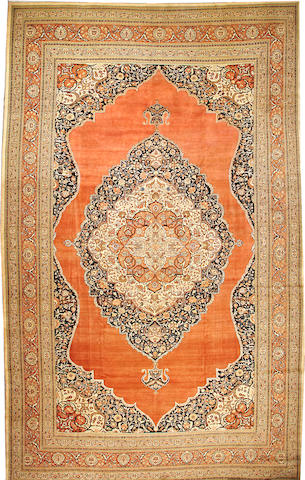 A Tabriz carpet Northwest Persia size approximately 12ft. 6in. x 20ft. 7in.
