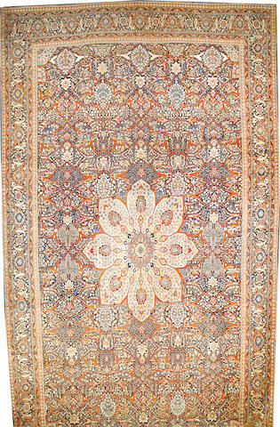 A Hadji Jalili Tabriz carpet  Northwest Persia size approximately 13ft. 7in. x 23ft.