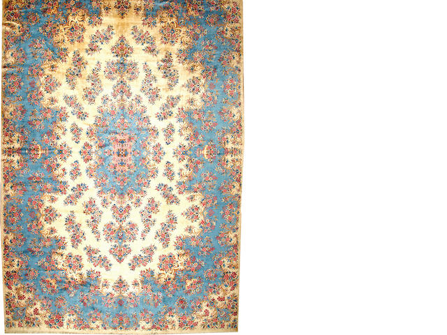 A Kerman Carpet Central Persia size approximately 13ft. 4in. x 21ft. 1in.