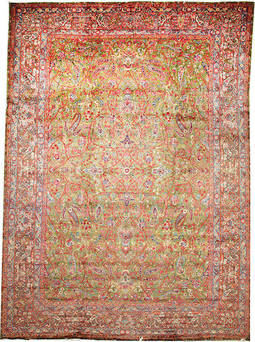 A Kerman carpet  South Central Persia size approximately 10ft. x 13ft. 8in.