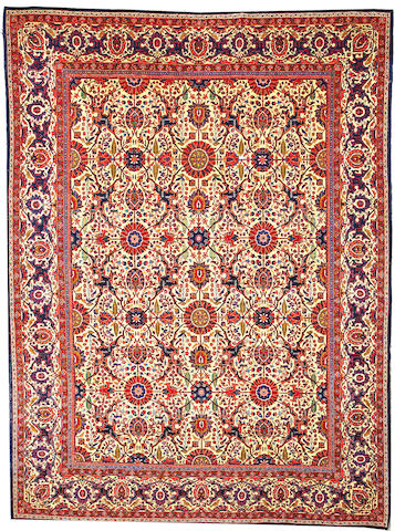A Sarouk carpet  Central Persia size approximately 8ft. 10in. x 12ft.