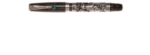 MONTEGRAPPA: Zodiac Rabbit Sterling Silver Limited Edition 1998 Fountain Pen **no box**