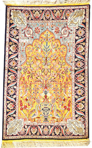 A Souf Kashan rug Central Persia size approximately 3ft. 5in. x 5ft. 4in.