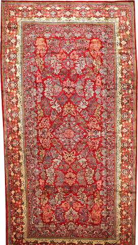 A Mahal carpet  Central Persia size approximately 12ft. 1in. x 23ft. 5in.