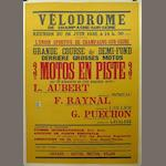 A Velodrome race advertising poster, c. 1932,