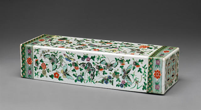 A famille verte porcelain pillow 19th century