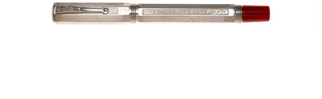 MONTEGRAPPA: Special Reserve 1996 Annual Edition Sterling Silver Fountain Pen **no ink bottle**